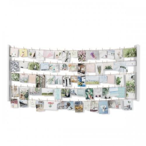 Colgador de fotos XL blanco