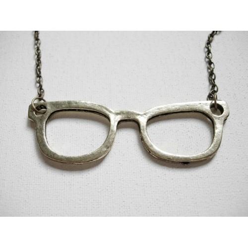 collar gafas nerd